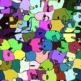 Abstrakcjonistyczny artystyczny kolorowy tło Fotografia Royalty Free