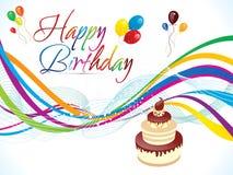 Abstrakcjonistyczny artystyczny kolorowy urodzinowy tło Zdjęcie Royalty Free