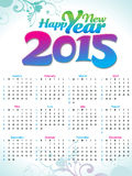 Abstrakcjonistyczny artystyczny nowego roku kalendarz Zdjęcia Stock
