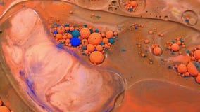 Abstrakcjonistyczny atrament opuszcza bąble wybucha pluśnięcia dyfundowanie zdjęcie wideo