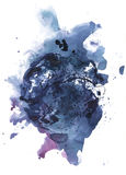 Abstrakcjonistyczny atramentu blotch Zdjęcia Royalty Free