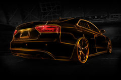 Abstrakcjonistyczny Audi A5 Zdjęcia Royalty Free