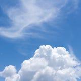 abstrakcjonistyczny błękit chmurnieje niebo Fotografia Royalty Free