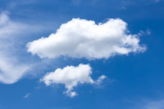 abstrakcjonistyczny błękit chmurnieje niebo Obraz Stock