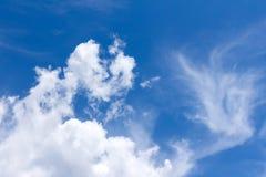 abstrakcjonistyczny błękit chmurnieje niebo Zdjęcie Stock