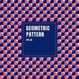 Abstrakcjonistyczny błękit, czerwień, białych geometrycznych okregów deseniowy tło z kopii przestrzenią ilustracji