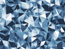 Abstrakcjonistyczny błękit faceted tło Obraz Royalty Free