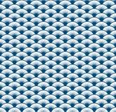 Abstrakcjonistyczny błękit fala sztuki linii wzoru tło Zdjęcia Stock
