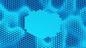 Abstrakcjonistyczny błękit krystalizujący tło Honeycombs ruch jak ocean Z miejscem dla teksta lub loga ilustracja wektor