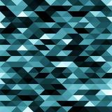 Abstrakcjonistyczny błękit lowpoly projektował wektorowego tło Poligonalny elementu tło Zdjęcia Royalty Free