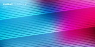 Abstrakcjonistyczny błękit, purpura, różowy wibrujący kolor zamazujący tło z diagonalnymi liniami deseniuje teksturę Miękki zmrok royalty ilustracja