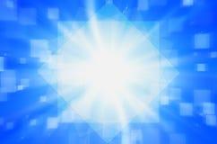 Abstrakcjonistyczny błękit z kwadratowym tłem. Fotografia Royalty Free