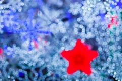 Abstrakcjonistyczny błękit zaświeca bokeh tło Fotografia Stock
