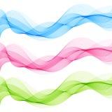 Abstrakcjonistyczny błękit, zieleń, menchia, projekt fala element Odizolowywać linie ilustracji