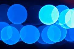 Abstrakcjonistyczny błękita światła bokeh Obrazy Royalty Free