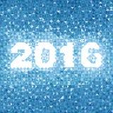 Abstrakcjonistyczny błękita 2016 tło Obrazy Stock