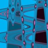Abstrakcjonistyczny błękita wzór z różowymi kroplami Fotografia Royalty Free