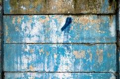 Abstrakcjonistyczny błękitnego, białego cementu ściany tło i Fotografia Stock