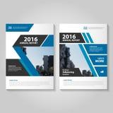 Abstrakcjonistyczny błękitnego czerni sprawozdania rocznego ulotki broszurki ulotki szablonu projekt, książkowej pokrywy układu p ilustracji