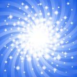 Abstrakcjonistyczny błękitnej gwiazdy tło Obraz Royalty Free