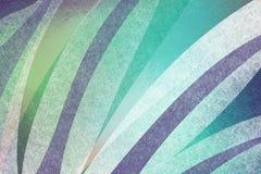Abstrakcjonistyczny błękitnej zieleni i bielu tło z textured lampasa projekta elementem wyginający się kształty w warstwach, ciek Obraz Stock