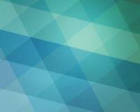 Abstrakcjonistyczny błękitnej zieleni tła wzór z diamentowymi blokami plażowi tematu koloru odcienie Zdjęcia Royalty Free