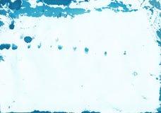 Abstrakcjonistyczny Błękitny akwareli tło z naturalną papierową teksturą Zdjęcie Royalty Free