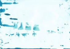Abstrakcjonistyczny Błękitny akwareli tło z naturalną papierową teksturą Obraz Royalty Free