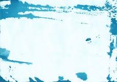 Abstrakcjonistyczny Błękitny akwareli tło z naturalną papierową teksturą Obraz Stock