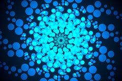 Abstrakcjonistyczny błękitny bąbel rozprzestrzeniający dalej obrazy stock