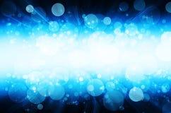 Abstrakcjonistyczny błękitny bokeh tło Obrazy Royalty Free