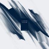 Abstrakcjonistyczny błękitny farby muśnięcia uderzenia akwareli tło ilustracja wektor