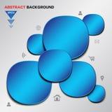 Abstrakcjonistyczny błękitny Geometrical wektorowy tło Zdjęcie Stock