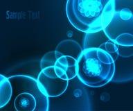 Abstrakcjonistyczny błękitny geometryczny tło projekt Fotografia Stock