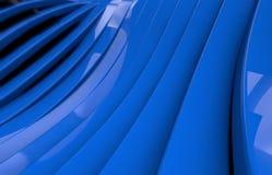 Abstrakcjonistyczny błękitny glansowany metalu tło Obrazy Stock