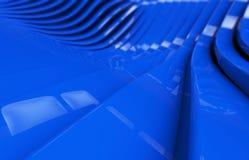 Abstrakcjonistyczny błękitny glansowany metalu tło Fotografia Stock