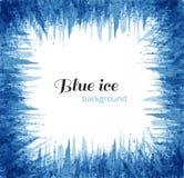 Abstrakcjonistyczny błękitny grunge tło z miejscem dla twój teksta Błękita lód na białym tle również zwrócić corel ilustracji wek ilustracji