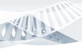Abstrakcjonistyczny błękitny i biały spirali 3 d Fotografia Stock