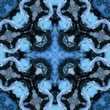 Abstrakcjonistyczny błękitny i czarny duchowości tło fotografia stock