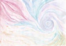 Abstrakcjonistyczny błękitny i różowy akwareli tło Zdjęcia Royalty Free