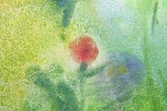 Abstrakcjonistyczny błękitny i zielony tło Zdjęcia Royalty Free