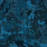 Abstrakcjonistyczny błękitny kamuflażu wzór Futurystyczny składu tło Labityntu pojęcie świadczenia 3 d royalty ilustracja