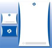 abstrakcjonistyczny błękitny korporacyjnej tożsamości loga set Zdjęcia Stock