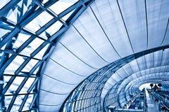 abstrakcjonistyczny błękitny korytarz Zdjęcie Royalty Free