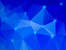 Abstrakcjonistyczny błękitny krystaliczny tło Fotografia Royalty Free