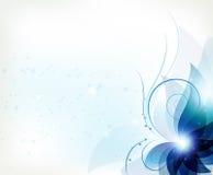 Abstrakcjonistyczny błękitny kwiat Obraz Royalty Free
