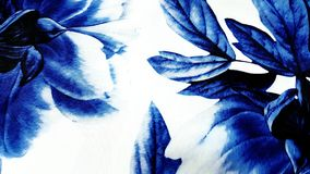 abstrakcjonistyczny błękitny kwiecisty Fotografia Royalty Free