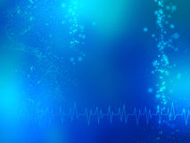 Abstrakcjonistyczny błękitny medyczny tło Obraz Royalty Free