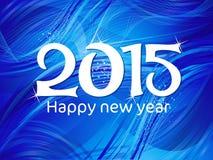 Abstrakcjonistyczny błękitny nowego roku tekst Fotografia Royalty Free