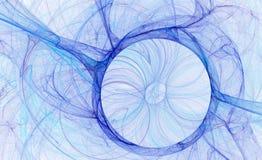abstrakcjonistyczny błękitny okrąg Zdjęcia Royalty Free